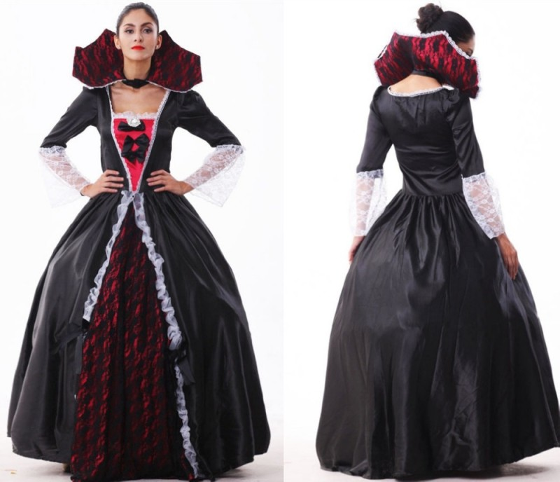 Free-shipping-Female-vampire-zombie-Halloween-costume-Halloween-witch-clothing-clothes-masquerade-party-queen-wear-uniforms