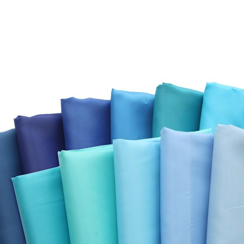 11カラー高-グレードのポリエステルファブリックライニング用生地洋服ポリ袋サテン生地diy海青のグラデーション150cm幅