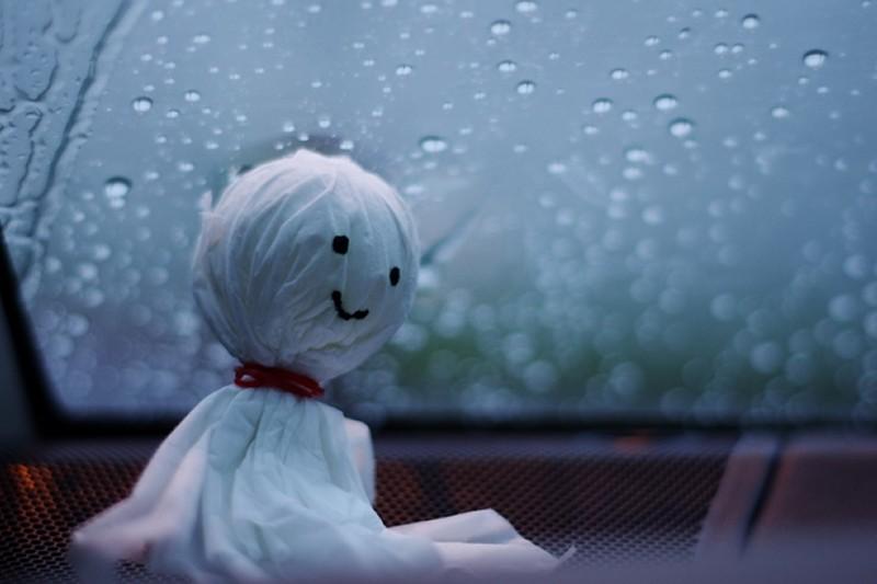雨上がって欲しいてるてる坊主