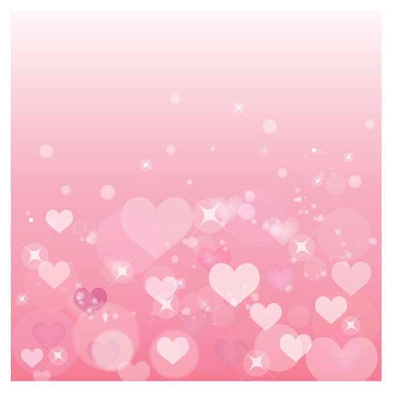 淡いピンク色ハートの背景 Pink heart background イラスト素材