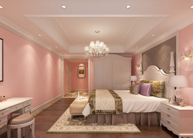 pl11297667-romantic_pink_kids_bedroom_wallpaper_embossed_modern_pink_wallpaper