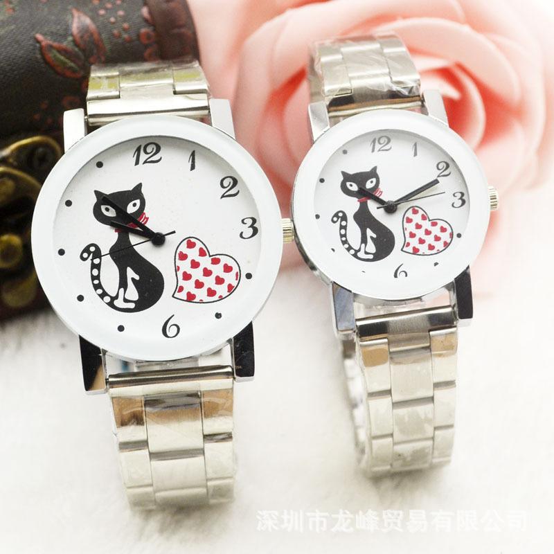 最高品質のファッションクォーツ時計腕時計の卸売長い風水子猫電子ギフトの腕時計のための工場直接フォームメスオス