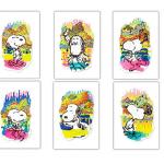 スヌーピー画家の新作発表展をみにいき対人運に╰(*´︶`*)╯♡