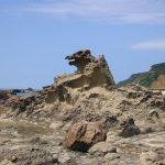 秋田にある迫力満点の「ゴジラ岩」で全体運