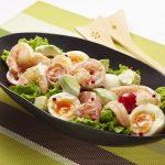 ゆで卵サラダで健康運を意識しよう
