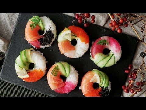 カラフルで可愛い「寿司ドーナツ」
