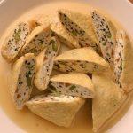 「油揚げの豆腐詰め」がふわとろ美味。家庭運