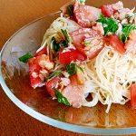 旬を味わう「トマトの冷製そうめん」家庭運