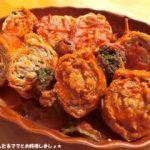 """野菜ジュースで作る""""豚肉油揚げのロール煮""""開運"""