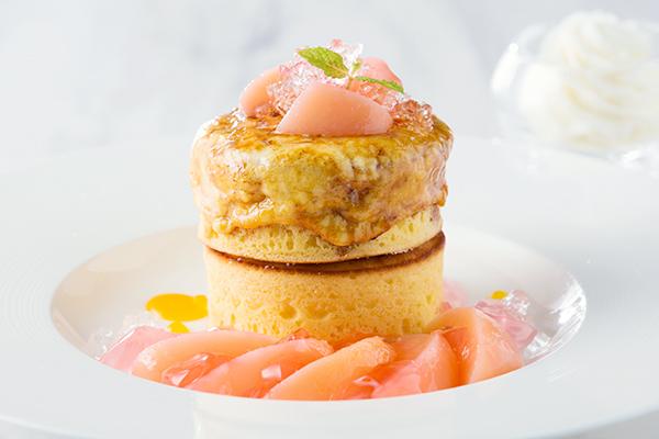 """桃&ブリュレ""""パンケーキ"""