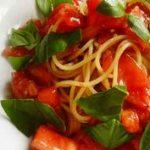 甘旨トマトとツナの「冷製パスタ」家庭運