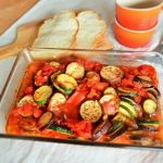 夏野菜の「ラタトゥイユ風オーブン焼き」家庭運