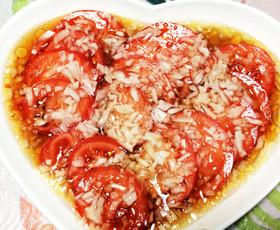 「さっぱりトマトの甘酢漬け」