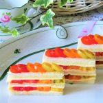 トマト&チーズの「サンドイッチケーキ」家庭運