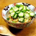 「納豆とオクラのスープご飯」家庭運