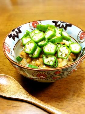 納豆とオクラのスープご飯